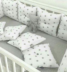 Бортики в кроватку для малышей