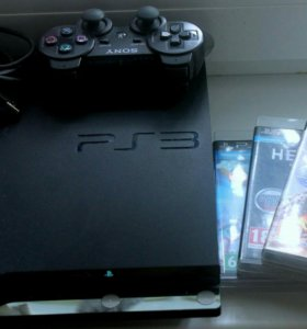 Sony Playstation 3, 320gb & 3 игры & PS move