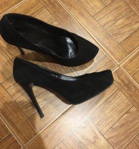 Туфли натуральная замша, 38-39 р-р