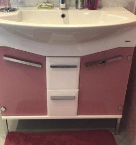 Комплект мебели для ванной Gemelli Logic 90