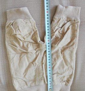 Вельветовые штаны-капри
