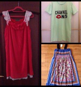 Платье сарафан туника на лето, новые