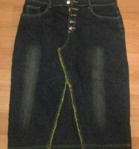 Новая джинсовая юбка стреч 46-48