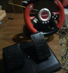 Игровой руль и педали Defender