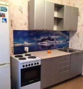 Кухня современная,цвет металлик