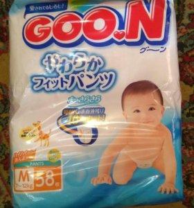 Японские Трусики -подгузники Goon размер М(7-12кг)