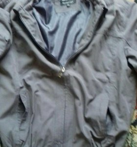 Ветровка- куртка 50-52 серого цвета