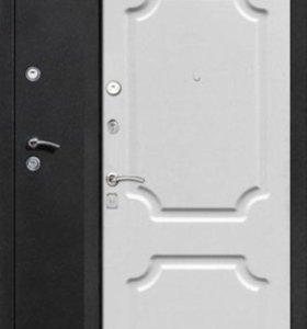 Дверь Металлическая Толстяк 10см Шёлк. Белый/Мат