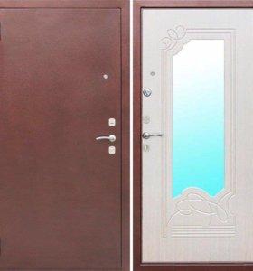 Металлическая дверь Ампир Беленый ясень.