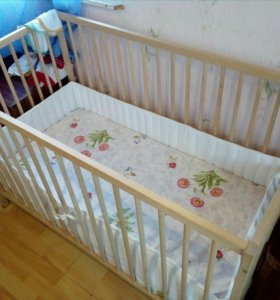 Кроватка матрас бортики
