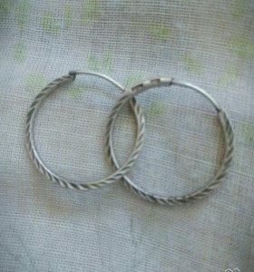 Серебренные серьги