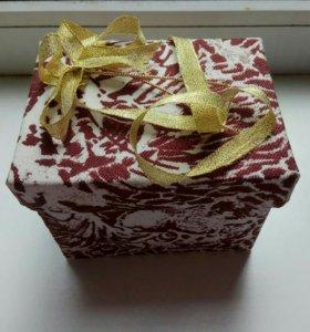Коробочка подарочная, для интерьера ручная работа