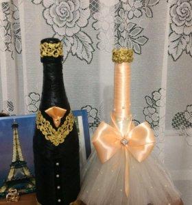 Бутылки под заказ свадьба