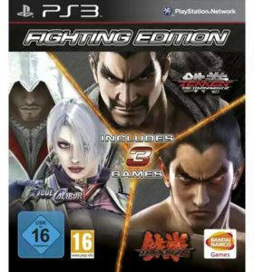 Диск PS3 Fighting edition (3 in 1)