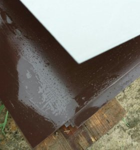 Лист плоский толщ 07 цвет темный шоколад