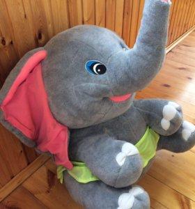 """Мягкая игрушка """"слон"""" 70 см высота, 60 см ширина"""