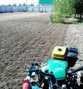 Вспашка почвы, целины, выравнивание