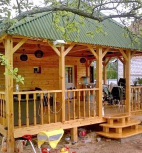 Терраса деревянная