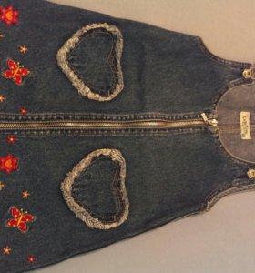 Сарафан джинсовый детский 53-54 см