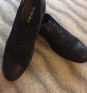 Ботинки замшевые( натуральные )
