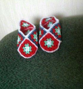 Вязанные тапочки