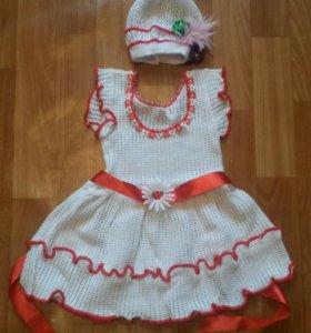 Платье и шапочка новые