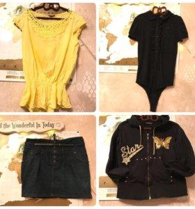 Юбки, брюки, блузки, толстовки, пиджаки 42-44