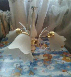 Люстра 3 цветка