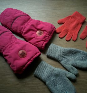Краги, варежки, перчатки 5-6лет