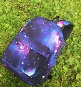 Рюкзак космос . Принтованный рюкзак