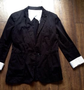 Пиджак прямой удлиненный