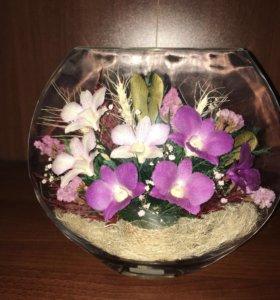 Орхидеи в вакуумной вазе