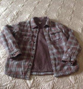 Рубашка куртка на мальчика. Утеплённая