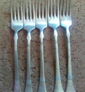 Старинные вилки. Германское серебро.