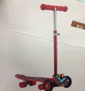 Самокат-скейтборд 2 в 1