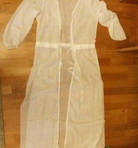 Пляжное платье в пол