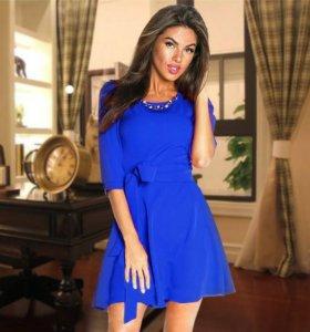 Платье синее новое, 44
