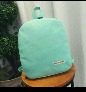 Рюкзак новый мятного цвета
