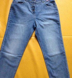 ✌Укорочённые голубые джинсы. Новые!