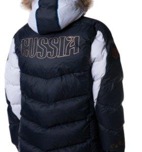 Куртка пуховая мужская(синий, белый)