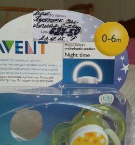 Пустышки фирмы AVENT(новые)