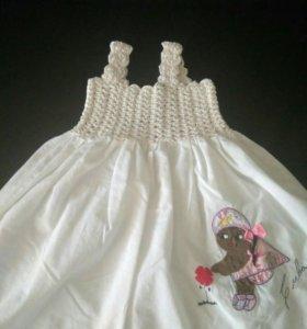 Сарафан и платье на девочку р.86