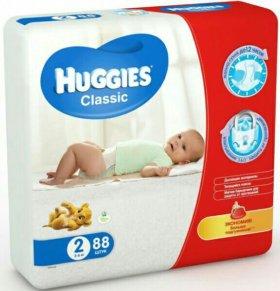 Подгузники Хагис Huggies 2, 88 штук