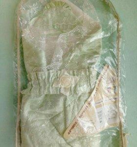 Одеяло (конверт) на выписку с комплектом одежды