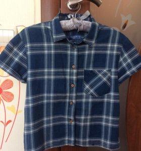 Рубашка в клетку pull&bear