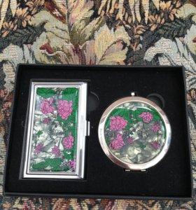 Подарочный набор (зеркало, визитница)