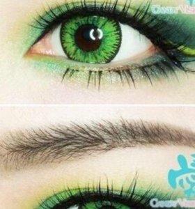 Линзы для глаз(зеленые)