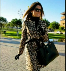 Крутое легкое леопардовое пальто