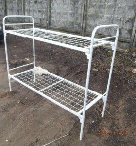 Металлическая двухъярусная кровати 2н1 для рабочих