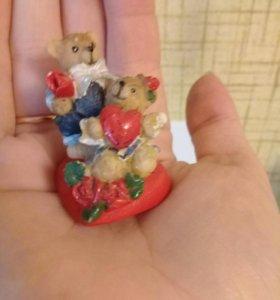 Мишки свадебные на скотче двухстор